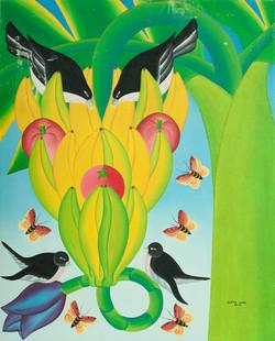 Saul Audes 30X24 #2-3-96 Canvas 1982
