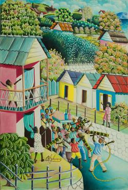 Bien-Aime Sylvain 24X16 #4-3-96 Canvas 1