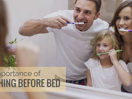 What is so bad about eating before bed without brushing your teeth?