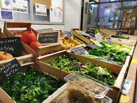 Légumes bio aux Halles de Quimperlé