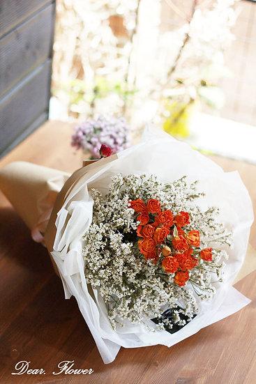 [인기] 드라이로즈 +시네시스 꽃다발