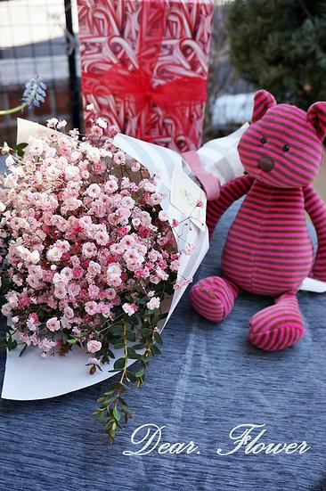 핑크 색안개 미니꽃다발