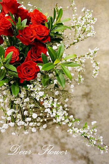 클래식 레드로즈 꽃다발