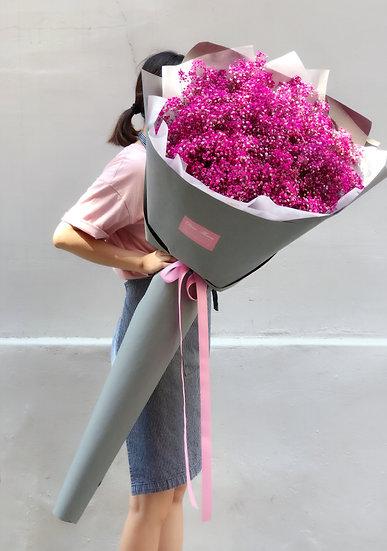 핑크안개 초대형꽃다발