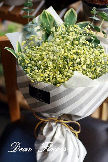 [할인] 옐로우 색안개 꽃다발