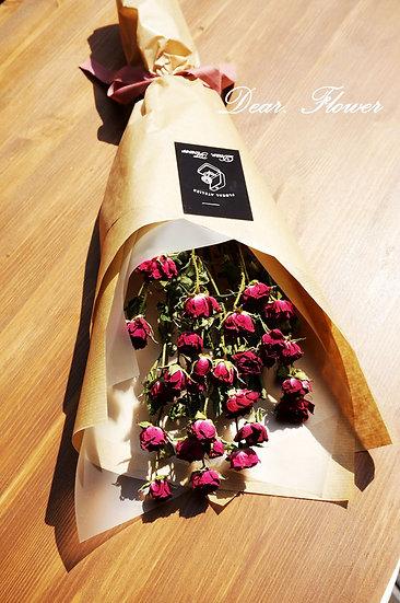드라이 로즈 꽃다발
