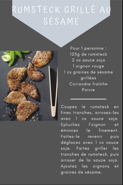 Rumsteck grillé au sésame