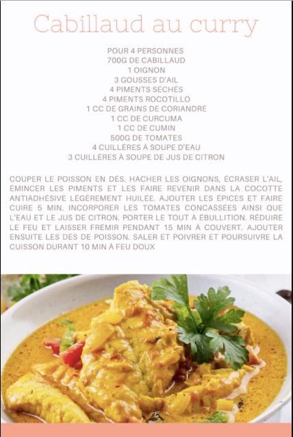 Cabillaud au curry
