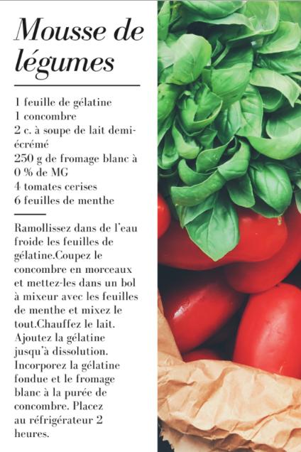 Mousse de légumes