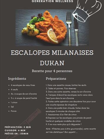 Escalopes Milanaise DUKAN