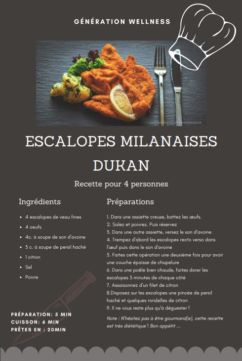 Escalopes Milanaise DUKAN