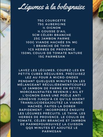 Légumes à la bolognaise