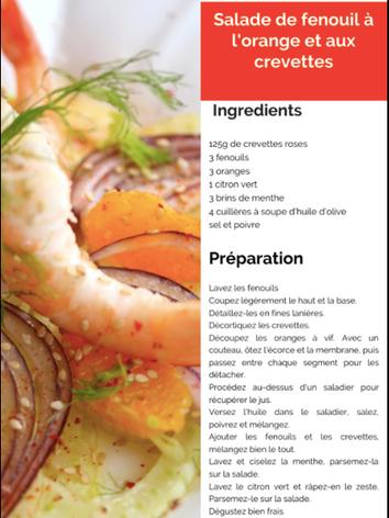 Salade de fenouil à l'orange et aux crev