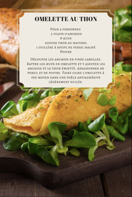 Omelette au thon