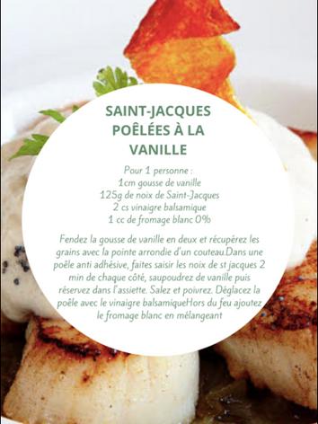 Saint-jacques poêlées à la vanille