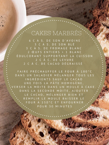 Cakes marbrés