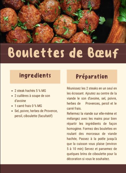 Boulettes de Boeuf