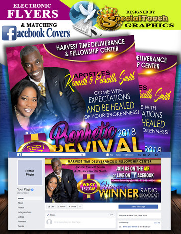 E-Flyers & Facebook Profile Covers