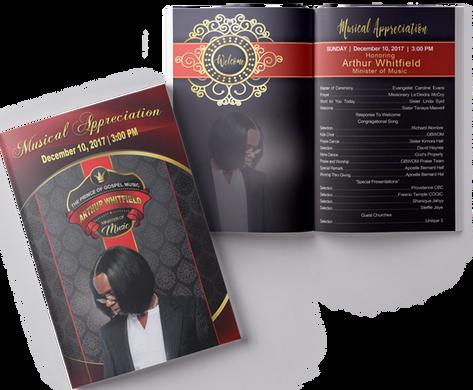 Half-Fold Order of Service Programs