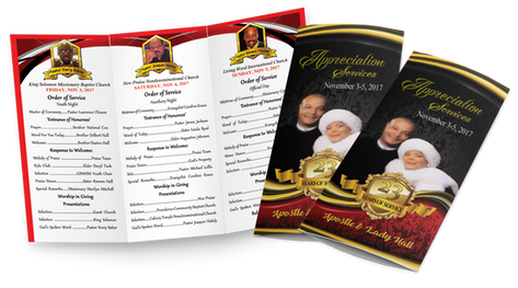 Tri-Fold Full Color Order of Service