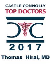 Castle Connolly Top Doctors 2017 Thomas Hirai, MD