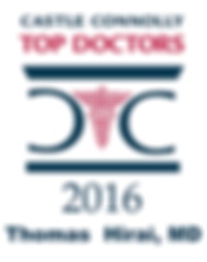 Castle Connolly Top Doctors 2016 Thomas Hirai, MD