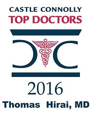 Castle Connolly Top Doctors 2016 Thomas Hirai, MD