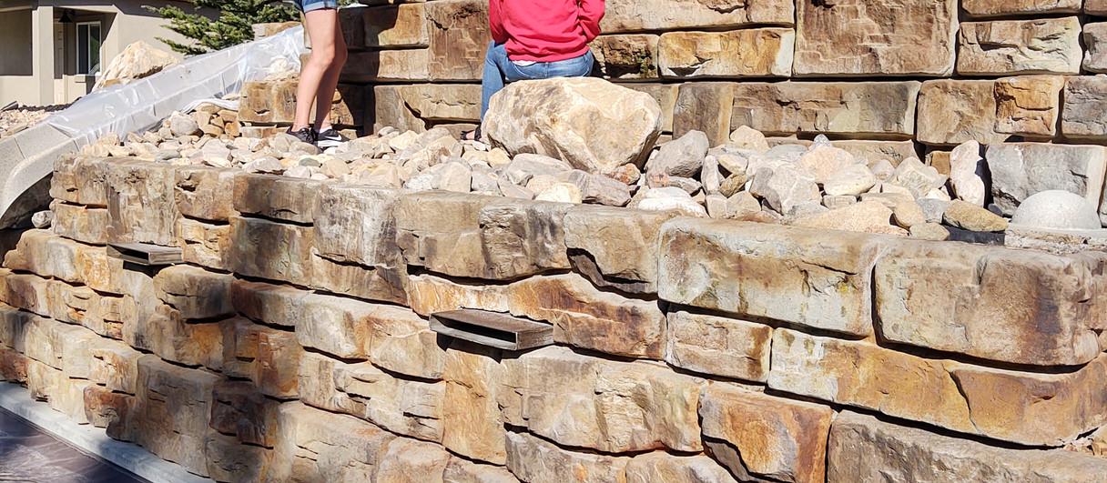 Recon Block wall