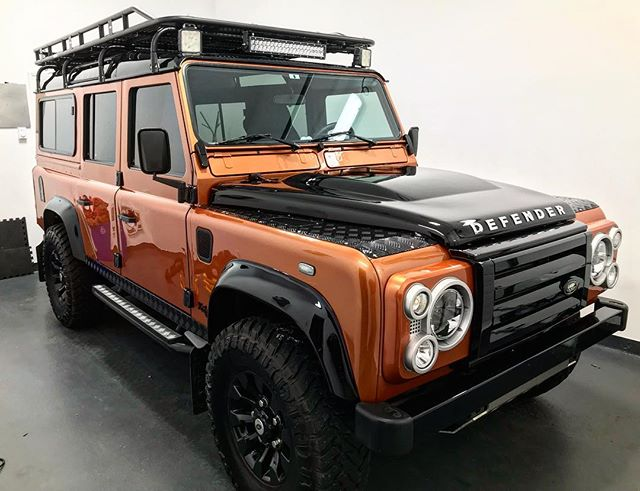 3 step paint correction on Defender