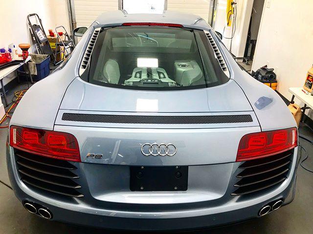 2 step paint correction on Audi R8