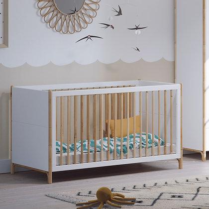 Lit bébé évolutif Océane 70 x 140 cm Neige