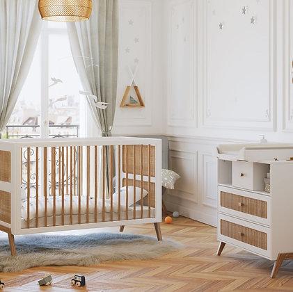 Chambre bébé Marélia Neige avec lit 70 x 140 cm