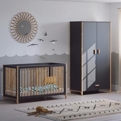 Chambre bébé Océane Ardoise avec lit 60 x 120 cm