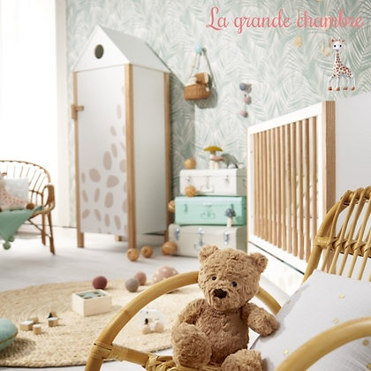 Chambre complète Sophie la girafe avec lit 70 x 140 cm