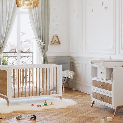 Chambre bébé Marélia Neige avec lit 60 x 120 cm