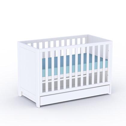Lit bébé évolutif Lili 60x120 cm Neige