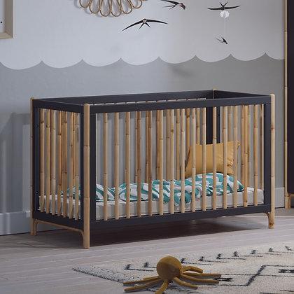 Lit bébé évolutif Océane 60 x 120 cm Ardoise