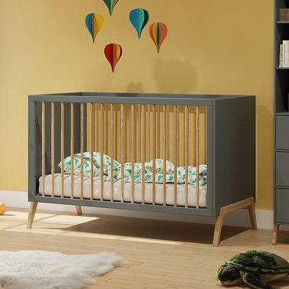 Lit bébé évolutif Marélie 70 x 140 cm Silex