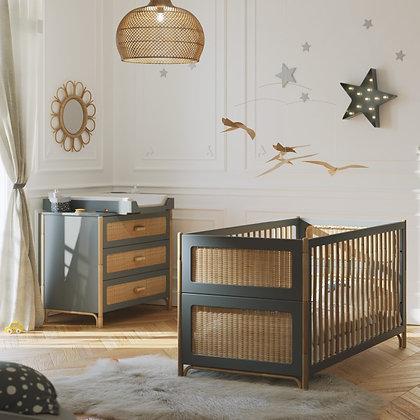 Chambre bébé Océania Silex avec lit 70 x 140 cm