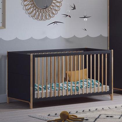 Lit bébé évolutif Océane 70 x 140 cm Ardoise
