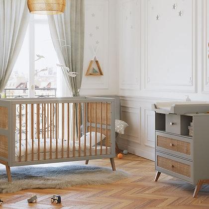 Chambre bébé Marélia Lune avec lit 70 x 140 cm