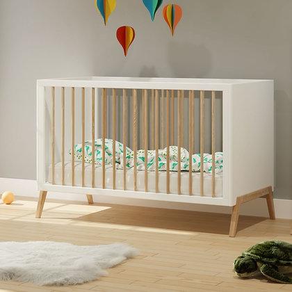 Lit bébé évolutif Marélie 70 x 140 cm Neige