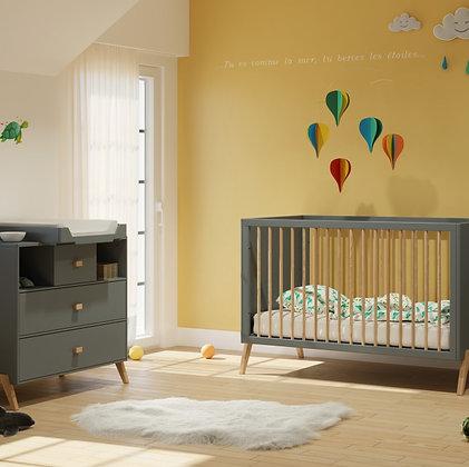 Chambre bébé Marélie Silex avec lit 70 x 140 cm