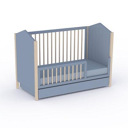Lit bébé évolutif Ninon 70x140cm Nuit