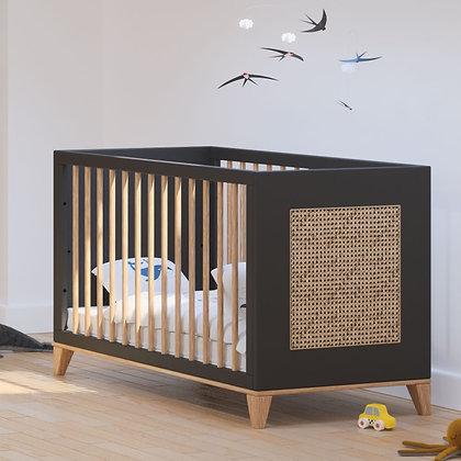 Lit bébé évolutif Nami 60 x 120 cm Onyx
