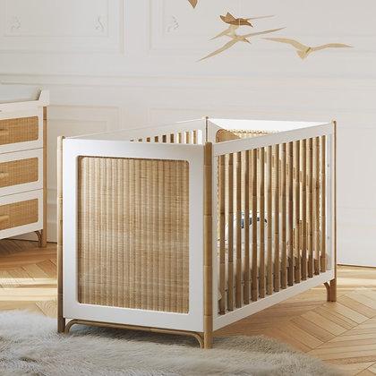 Lit bébé évolutif Océania 60 x 120 cm Neige