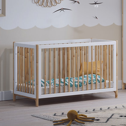 Lit bébé évolutif Océane 60 x 120 cm Neige
