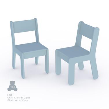2 petites chaises Léo