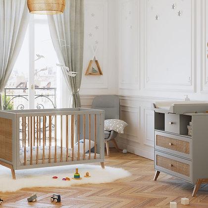 Chambre bébé Marélia Lune avec lit 60 x 120 cm