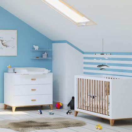 Chambre bébé Naïa Neige avec lit 60 x 120 cm